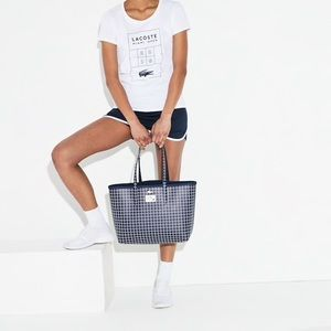 Lacoste Miami open reversible tote bag.